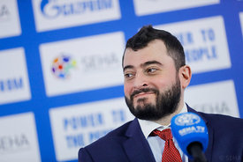 Boris Sapozhnikov during the Final Tournament - Final Four - SEHA - Gazprom league, Closing Press Conference, Belarus, 09.04....