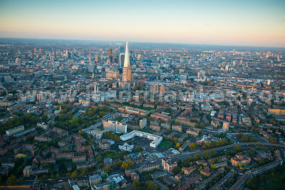 Aerial view of Newington, London