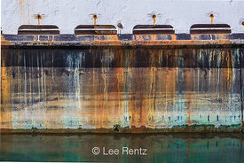 Rust Stains on a Boat Hull in Newport, Oregon