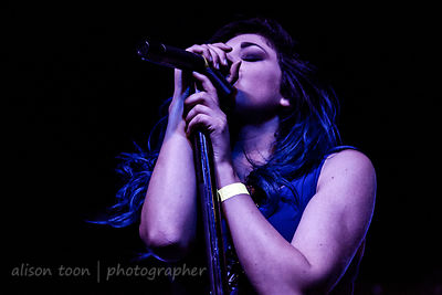 Katie Robinette, vocals, A Mile Till Dawn, Sacramento, May 2015