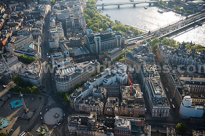 Aerial view of the Corinthia Hotel, London