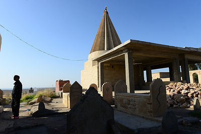 The Temple of Sheikh Zewa Name Sivan, the third most important temple of Yazidi religion..Le Temple de Cheikh Zewa Nom Sivan,...