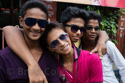 A group of friends in shades, Beniatola, Kolkata, India