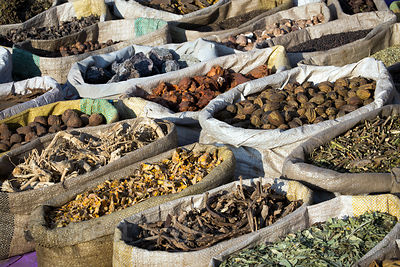 Fantastic assortment of rough-hewn spices for sale at the Pushkar Camel Fair, Pushkar, Rajasthan, India