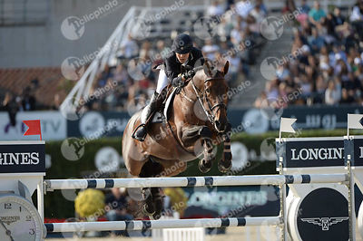 Paola AMILIBIA ,(ESP), PRUNELLA D ARIEL during Longines Cup of the City of Barcelona competition at CSIO5* Barcelona at Real ...