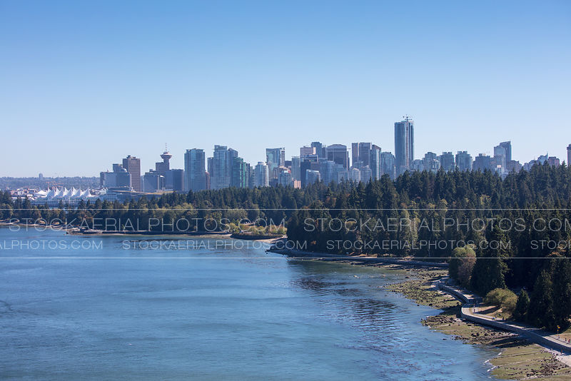 Vancouver Skyline and Stanley Park Seawall