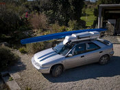 Ease of transportation was important - the whole boat sits on the roof of a standard family car