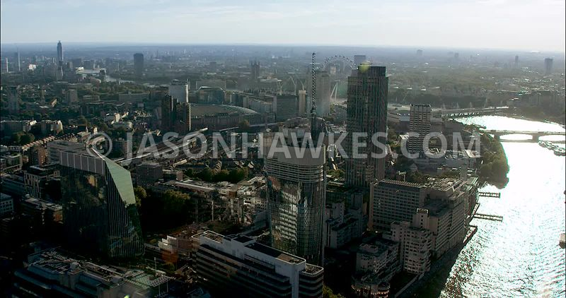 London Aerial Footage of Blackfriars Road/