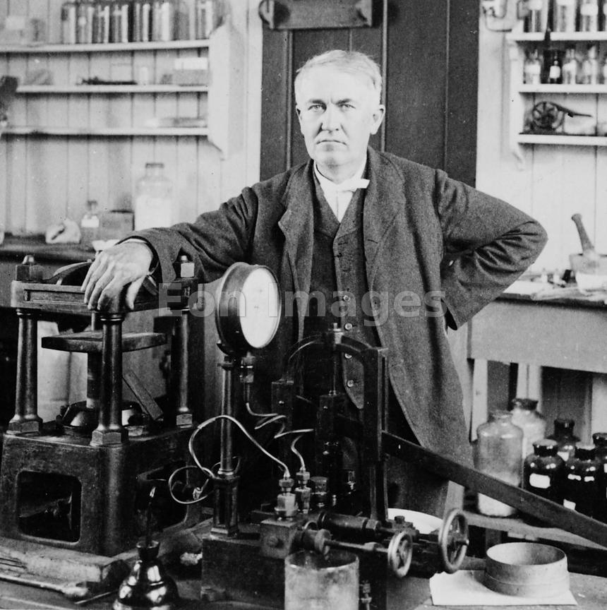 Thomas Edison in his lab, 1901