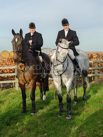 Will Grant at the meet - The Belvoir Hunt at Long Clawson, 14/12