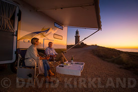 Watching sunset from Exmouth Lighthouse, Western Australia