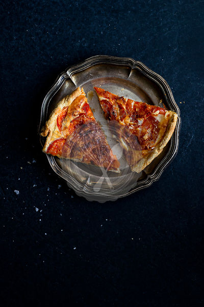 A homemade tomato quiche