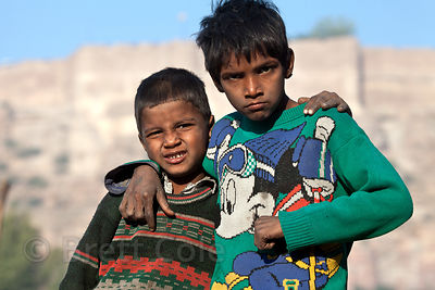 Street kids in Jodhpur, Rajasthan, India
