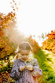 Younger Nordic girl and pear trees 16