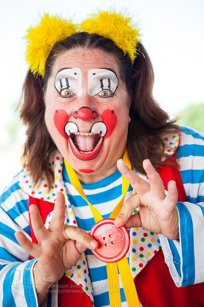 Ms. Skeeter, a clown performer with the Culpepper-Merriweather Great Combined Circus poses for a portrait in Tiffin Wednesday...