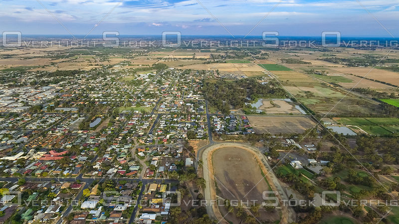 Residential Area and Trotting Track of Kyabram Victoria Australia