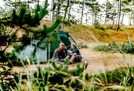 Two girls camping in Denmark 6