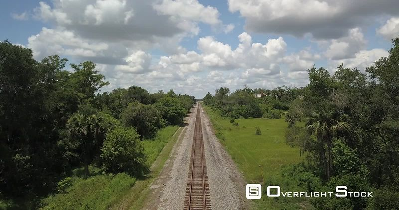 Train tracks at Loughman FL post office, quiet little town. Davenport Florida.