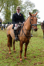 Angus Smales at the meet. The Cottesmore Hunt at Somerby
