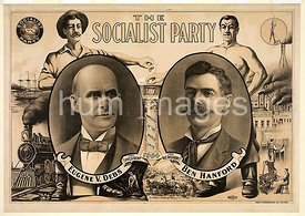 The socialist party 1904 Eugene V. Debs and Ben Hanford