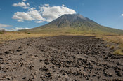 lava flow in front of the active volcano Ol Doinyo Lengai, Tanzania