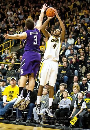 Iowa vs Northwestern Mens Basketball, Feb 9, 2013