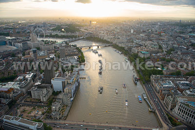 London. Aerial view of Lambeth and Westminster