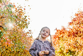 Younger Nordic girl and pear trees 5