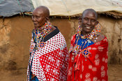 Maasai women at a hut, Selenkay Conservancy, Kenya