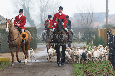 The Cottesmore Hunt at Barleythorpe 6/12