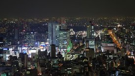 Bird's Eye: Above Akihabara At Night