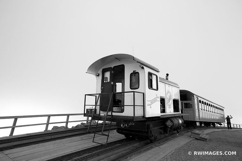 MOUNT WASHINGTON COG RAILWAY WHITE MOUNTAINS NEW HAMPSHIRE BLACK AND WHITE