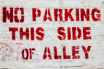 No Parking This Side of Alley