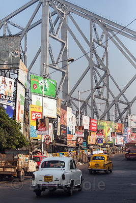 Howrah Bridge is a focal point in Kolkata, India. It carries people, bikes, carts, trucks, cars, and animals over the Hooghly...