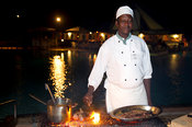 Barbeque night at Turtle Bay Beach Club, Watamu, Kenya