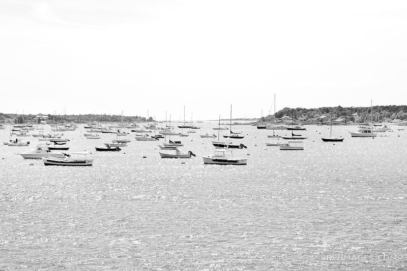 EDGARTOWN HARBOR MARTHA'S VINEYARD BLACK AND WHITE