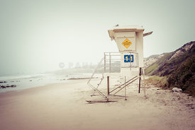 Crystal Cove Lifeguard Tower 11 Vintage Picture