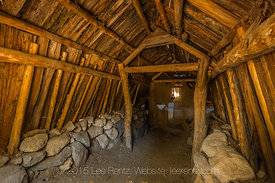 Ceremonial Roundhouse in Indian Village in Yosemite Valley