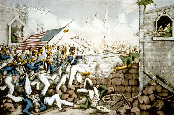 Americans fight in Monterrey plaza during war with Mexico