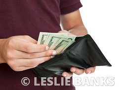 Teen with cash