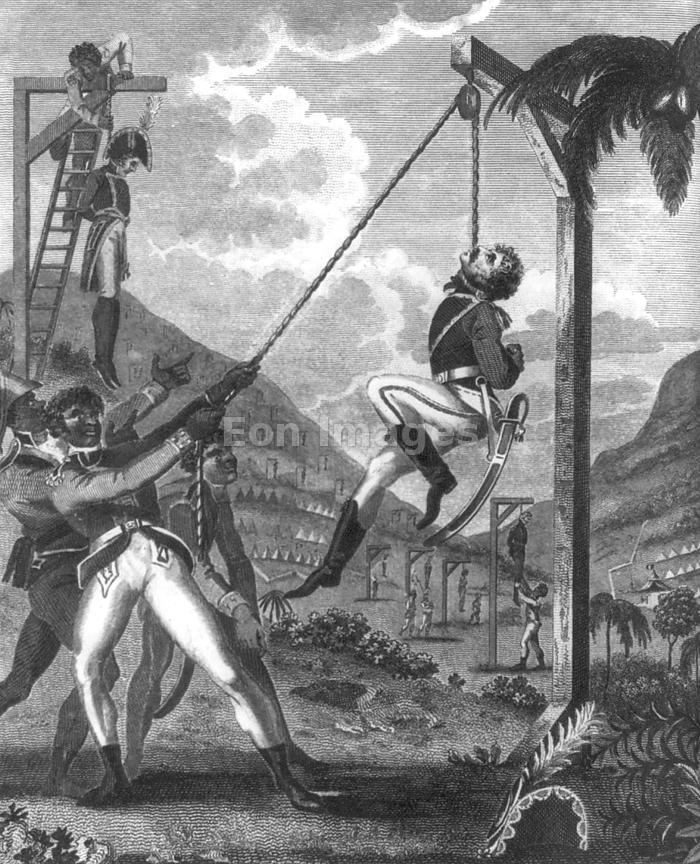 French soldiers are executed by Haitian revolutionaries