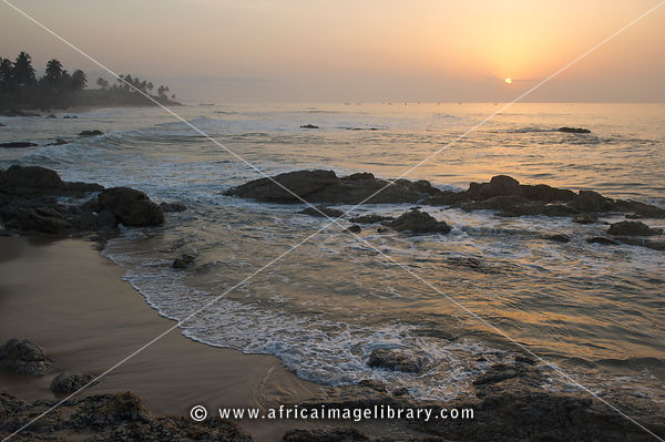 Biriwa beach at sunrise, Ghana