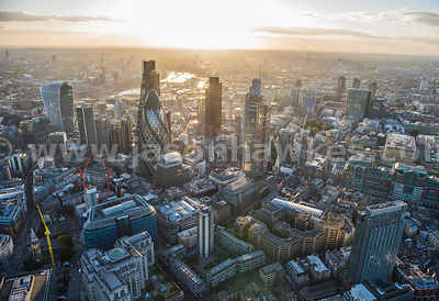 Aerial view of the City of London