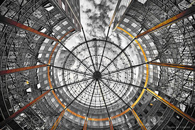 la_defense_structure_araignee_cercle_cours_valmy_orange_splash_metal_bnwJPEG_Qualité_maximum