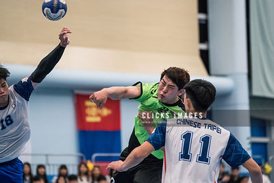 The 6th East Asian 'Men and Women' Handball Championship 第六屆東亞手球錦標賽 Chinese Taipei vs Korea on 2018 July 3 at Kowloon Park Sp...