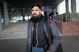 Jorge Maqueda during the Final Tournament - Final Four - SEHA - Gazprom league, Team arrival in Brest, Belarus, 06.04.2017, p...
