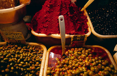 Syria - Aleppo - pots of olives