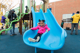 Freemason Playground Ribbon Cutting
