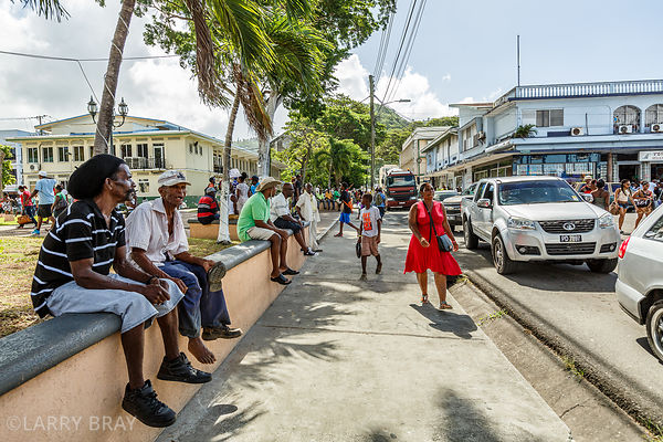 Street scene in Castries, St Lucia