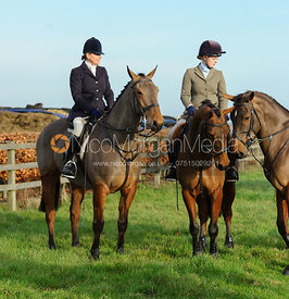 At the meet - The Belvoir Hunt at Long Clawson, 14/12